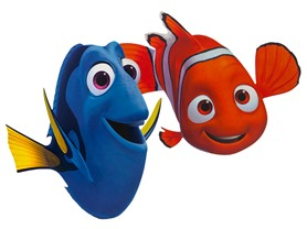 Disney's Finding Dory or Nemo 12x17 Fatheads, Your Choice