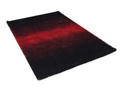 Serenity Red & Black Shag Rug