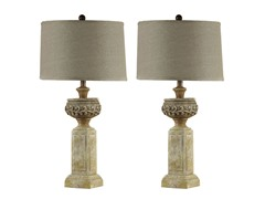 Quoise Limestone Lamp - Set of 2