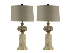 Quoise Limestone Lamp - Set of 2