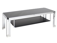 LumiSource Geometric TV Stand Black