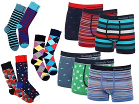 Unsimply Stitched 3Pk Boxers/4Pk Socks