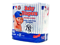 NY Yankees Diapers (160-192ct)