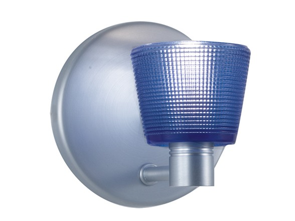 1-Light Blue Glass ADA Wall Sconce