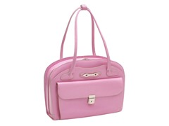 Lyndon Leather Ladies Briefcase - Pink