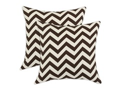 Zig Zag 17X17 Pillows - Village Brown - Set of 2
