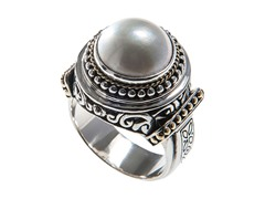 18kt Gold Accent Mabe Pearl Ring