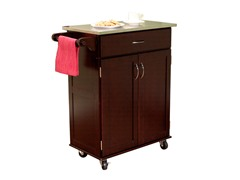 Kitchen Cart w/Stainless Top - Espresso