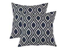 Nichole 17x17 Pillows - Indigo - Set of 2