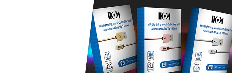 Ikon MFI Metal Coil Lightning Cables
