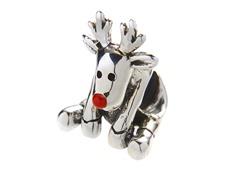 SS & Enamel Rudolph Reindeer Charm