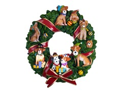 Holiday Dogs Musical Wreath