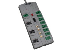 12-Outlet 3600J Surge Suppressor w/ 10ft Cord