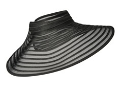Meridian Ave Roll Up Visor, Black