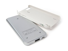 Ecopak iPhone 5 Battery Case - Slv/Wht