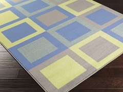 Bambino Cobalt & Lime Rug -  4 Sizes