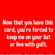 holiday guilt card
