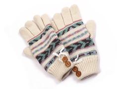 MUK LUKS® Women's Gloves, White/Purple