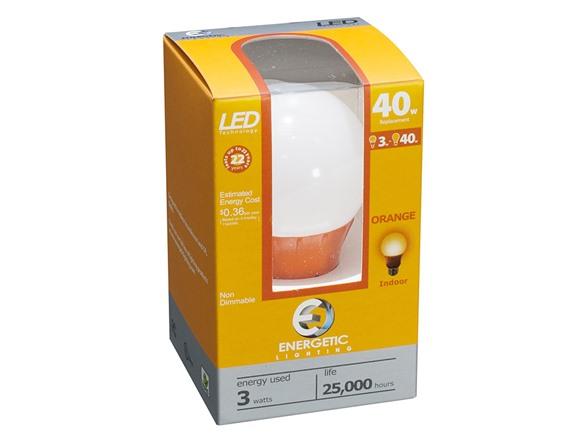 Orange Led Light Bulb 4 Pack