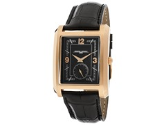Men's Rose Gold/Black Leather Watch