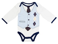 Argyle Vest - Light Blue (0-9M)