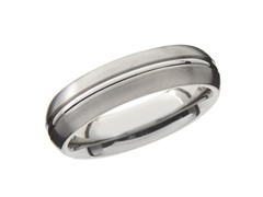 6mm Satin Finish Titanium Band