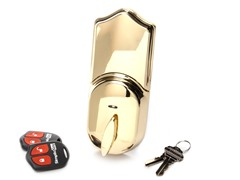 Remote Electronic Deadbolt, Brass