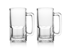 Glass Beer Stein-1 Liter-Set of 2
