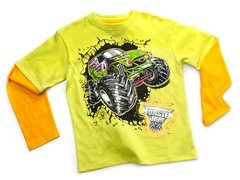 Monster Jam Long Sleeve Tee - Lime (4-7)