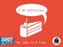 The Cake Is A Liar Zip Hoodie