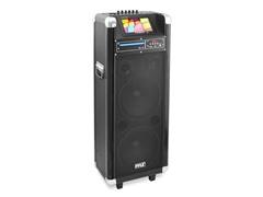 "Karaoke Bluetooth PA System w/ Dual 12"" Woofer & 7"" LCD"