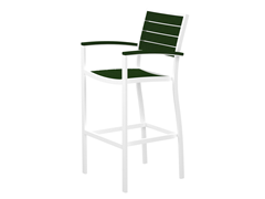 Euro Bar Chair, White/Green