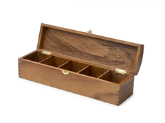 Acacia Wood 5-Slot Tea Bag Holder