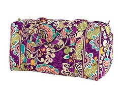 Vera Bradley Large Duffle Bag, Plum Crazy