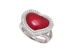 Coral Gemstone Ring