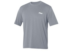 Fila Men's Heathered Crew, Grey (L)