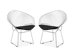 Net Dining Chair Black Set of 2