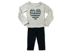 Grey Stripe Heart Legging Set
