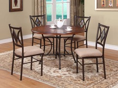 Presley 5-pc Wood & Slate Dining Set