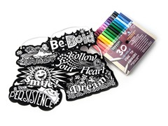 "6 Die-Cut ""Inspirations"" w/30 Washable Markers"