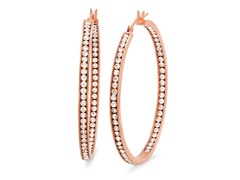 18 kt Rose Gold Plated 50mm Hoop Earring