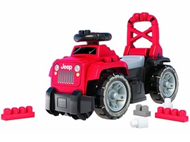 Mega Bloks Red Jeep 3-in-1 Ride-On