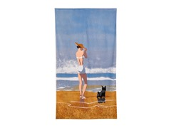Conde Nast Archive-Beach Girl Dog Beach Towel