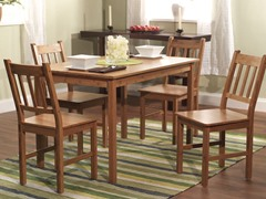 5-Piece Bamboo Dining Set