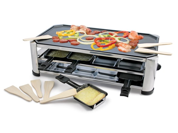 swissmar 8 person raclette stainless grill. Black Bedroom Furniture Sets. Home Design Ideas