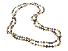 Multi Color Freshwater Pearl Necklace, 48""