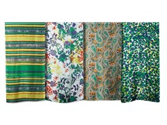 4-Pack Silk Scarves, Emerald