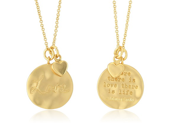 Beverly Hills Silver 18K Gold Plated Necklace