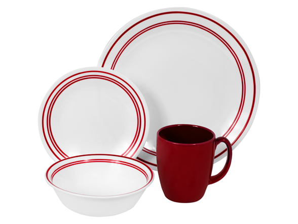 Livingware Classic Caf 233 Red 16pc Set