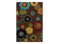 Fiesta Brown Floral Rug (Multiple Sizes)